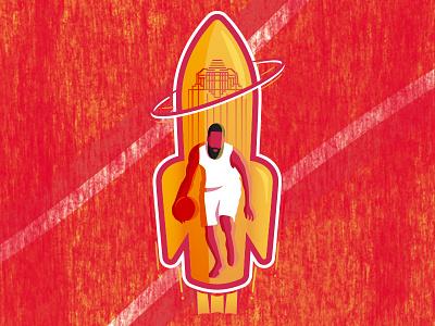 James Harden Rockets Soccer-Themed Badge nba rockets harden james harden the beard badge soccer badge