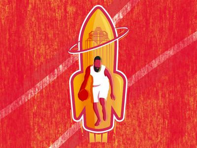 James Harden Rockets Soccer-Themed Badge
