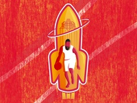 James Harden Rockets Soccer-Themed Badge