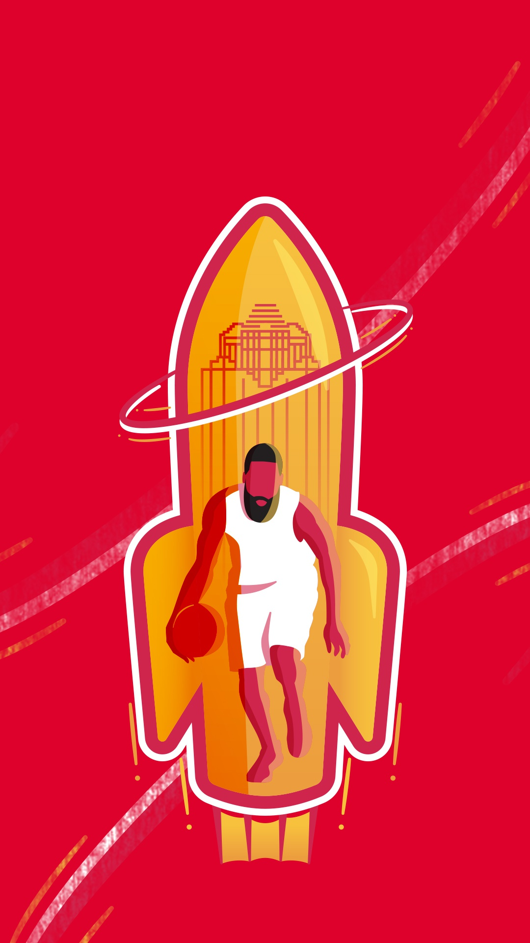 51 james harden badge phone bg
