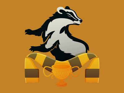 Hufflepuff House Soccer-Themed Badge