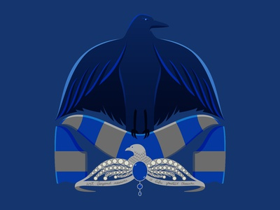 Ravenclaw House Soccer-Themed Badge