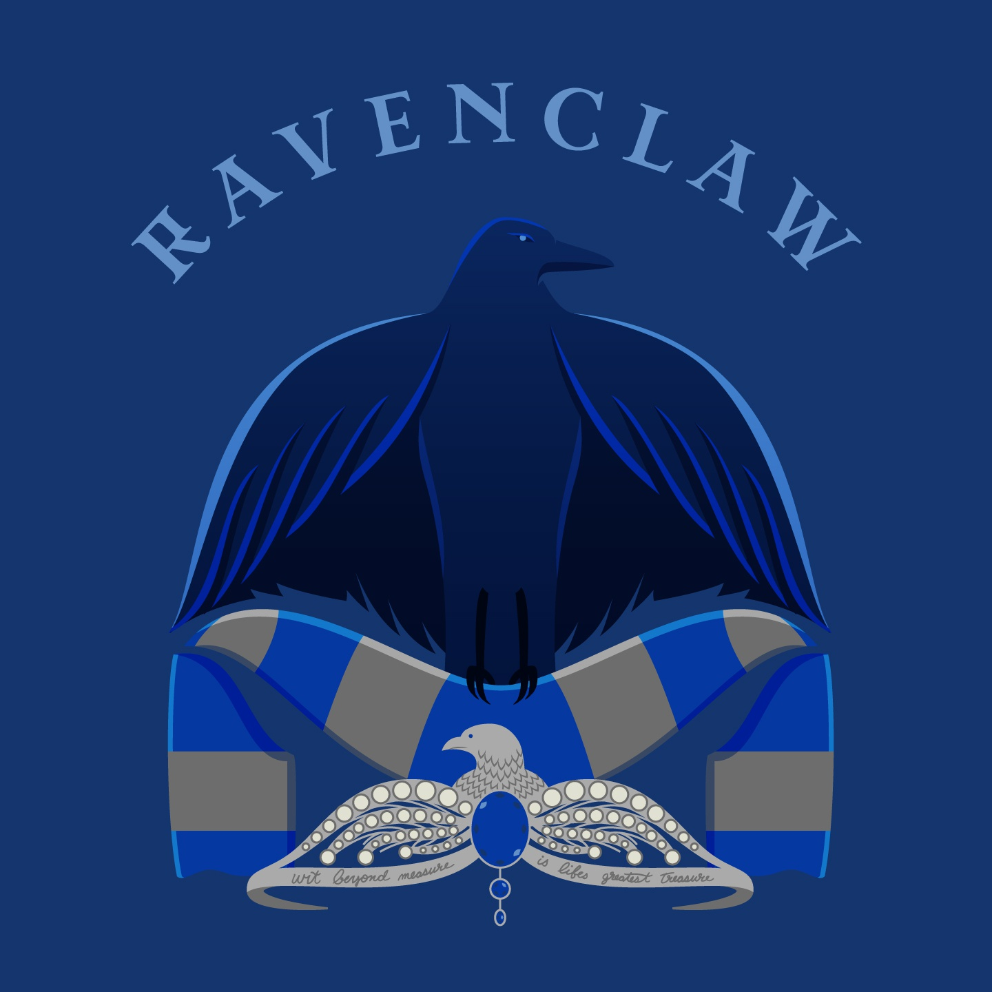 44 ravenclaw badge text