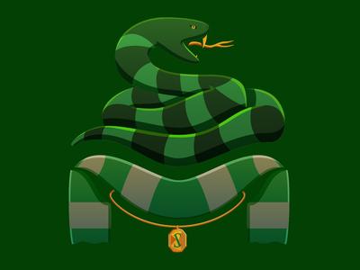 Slytherin House Soccer-Themed Badge