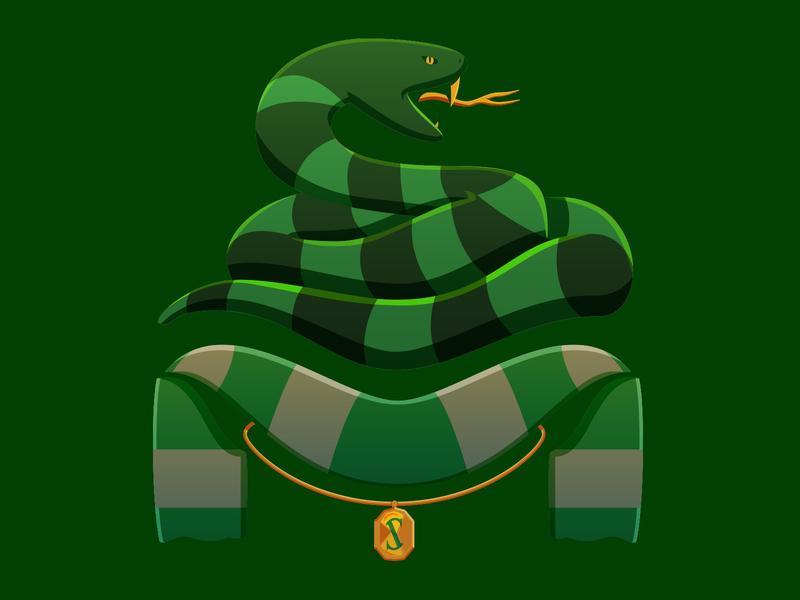 Slytherin House Soccer-Themed Badge hogwarts harry potter slytherin illustration soccer badge badge