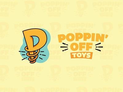 Poppin' Off Toys Full Logo toys spring logo