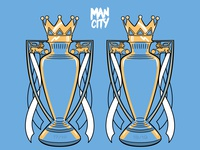 Back 2 Back Man City Trophies