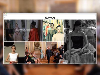 Natan new website fashion couture natan edouard vermeulen typographie topmodel luxe clothes white mode full screen belgium