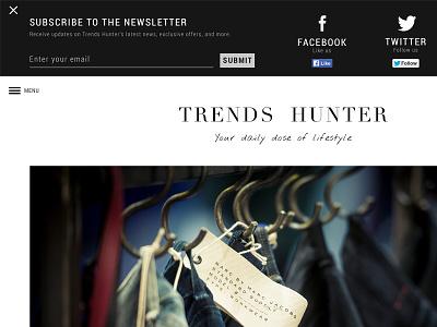 Header Alert subscribe newsletter social networks flat black  white