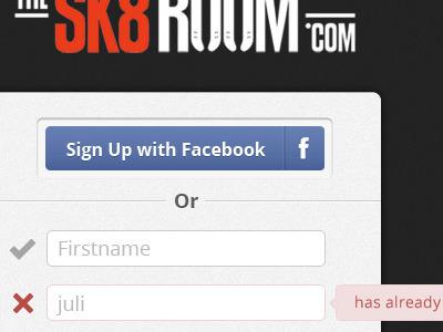 Sk8room sign up