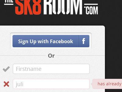 Sk8room sign up sign up facebook connect skates login
