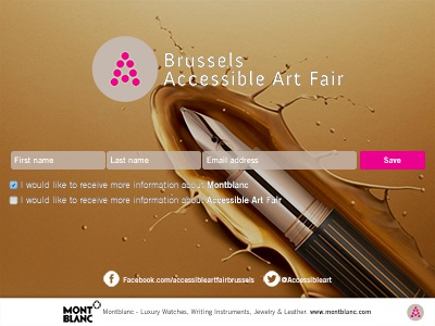 Brussels Accessible Art Fair contact form ipad form contact form formulaire formuailre de contact