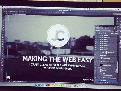 JC Portfolio work in progress portfolio homepage website web design one page