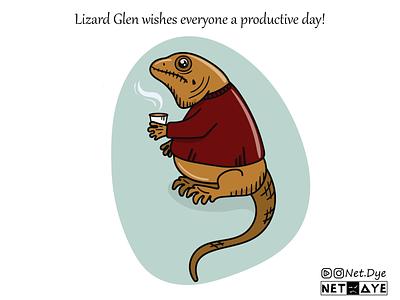 Lizard Glen comicsart comics vectors vector illustration vector art flat lizard wish vector branding card characterdesign character illustration illustrator