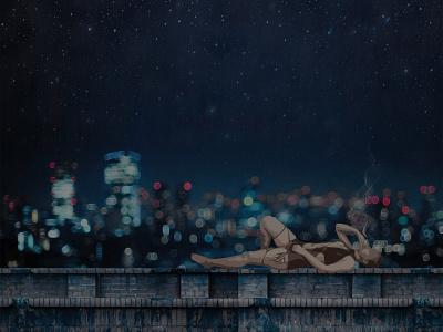 Late night photography photograph photoshop ps graphic design artwork art design