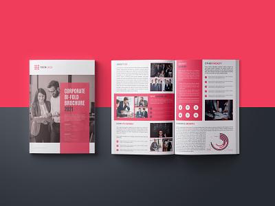 """""""CORPORATE BI-FOLD BROCHURE 2021"""" corporate brochure design business brochure design brochure brochure design brand identity adobe indesign branding design color idea design idea"""