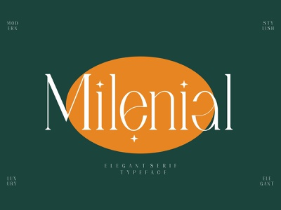 Milenial Serif Font typeface