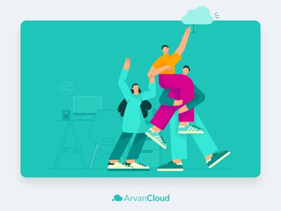 ArvanCloud Partner Network art ui vector illustration design website minimal flat illustrator branding