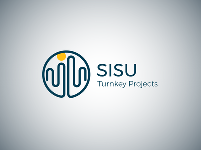 SISU Turnkey Projects logo design sisu labyrinth builders logo design branding