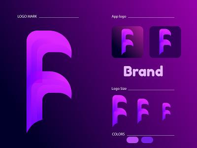 F concept logo | F logo Design | Logo Design | Modern logo | illustration ui symple logo modern logo vector icon illustrator logo design graphic design design branding logo f logo