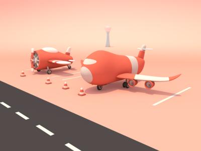 C4D-Airport