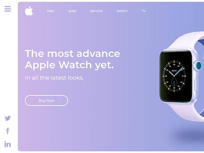 Parte 2 Diseño Landign Apple Watch tecnologia marketing product design diseño ux diseño ui diseño gráfico diseño web