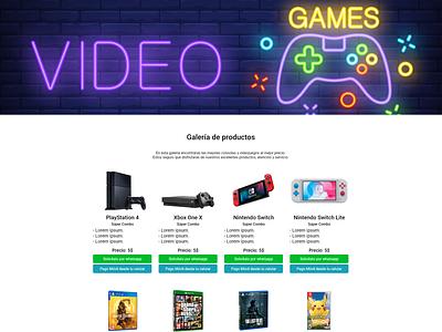 Web Videojuegos tecnologia marketing product design diseño ux diseño ui diseño gráfico diseño web