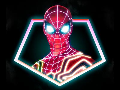 Neon Spiderman photo editing photoshop illustrator marketing visual design diseño gráfico