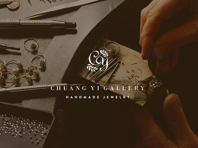 CHUANG YI Handmade Jewelry Brand Design flat branding minimal vector typography branddesign logo design illustration brand