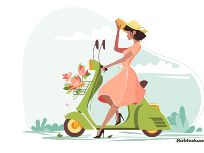 scootygirl 4 06 11 PM art illustrator website web graphic design animation illustration design logo ui