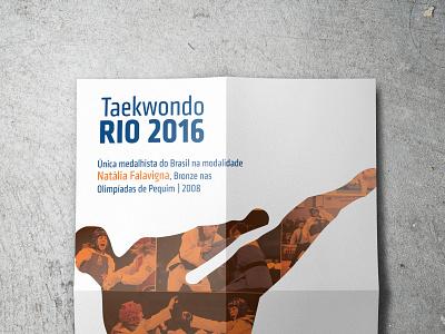Olimpíada 2016 - Taekwondo minimal illustration web poster graphicdesign design
