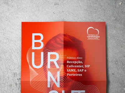 Cartaz - Palestras sobre Burnout poster graphicdesign design