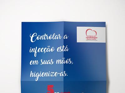 Dia Mundial de Higienização das Mãos web poster graphicdesign design