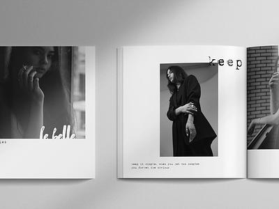Le Belle Catalogue minimalist keep simple magazine catalog