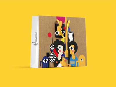 Number 9 store packaging packaging paper bag kuwait vibrant illustration scratch