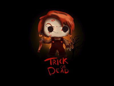 Trick or Dead tv shows horror terror chucky t-shirt halloween