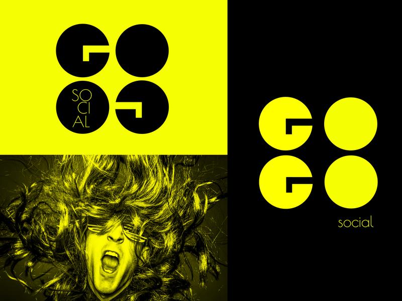 GoGo social Brand typography creative logo brand