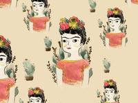 Frida Kahlo pattern design