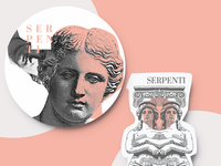 Serpenti apparel stickers