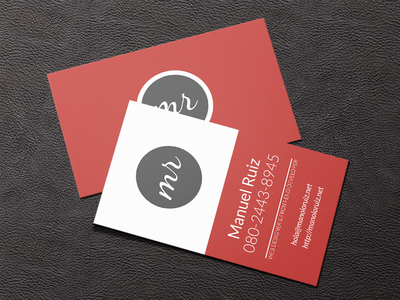 Business Card card red