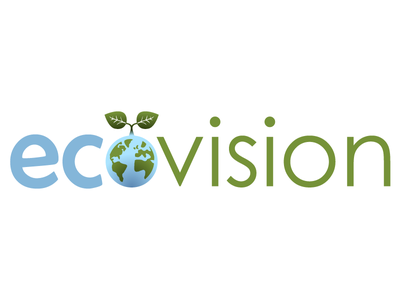 ecovision logo 1 green blue eco leaf earth