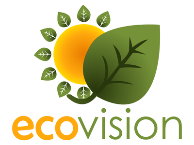 ecovision logo 4 green orange yellow eco leaf sun