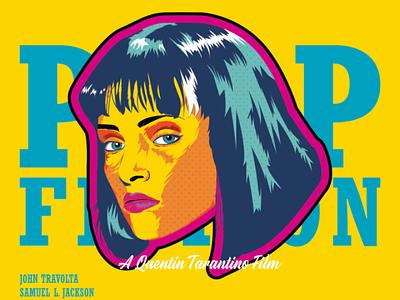 Pulp Fiction vector pulp fiction popart