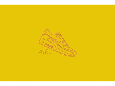 AIR90 fan vector illustration design sneakers sneaker nike air nike
