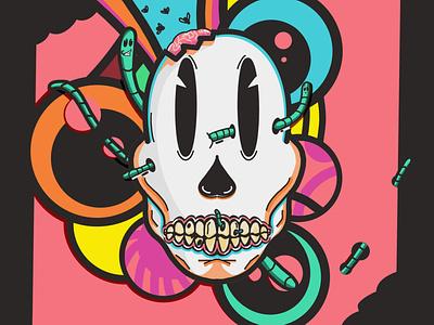Calavera 1 stickers poster colors design skull procreate illustration