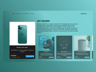 Gadget Hub Landing Page prototyping interface graphicdesign technology uidesign uxdesign minimal web ui design