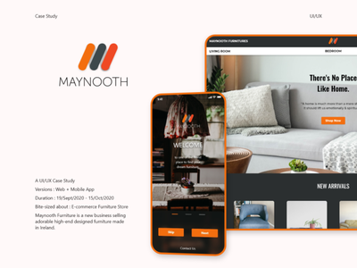 Maynooth Furniture (Case Study) ux ui typography web prototyping interface uxdesign uidesign graphicdesign design