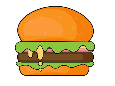 Burger Illustration vector illustration