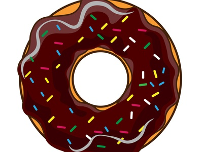 Donut Illustartion design vector illustration
