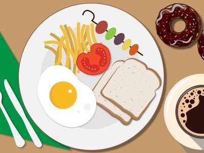 Breakfast Platter design vector illustration
